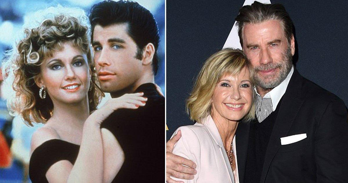 "grease stars reunited.jpg?resize=300,169 - John Travolta et Olivia Newton-John réunis pour le 40ème anniversaire de ""Grease"""