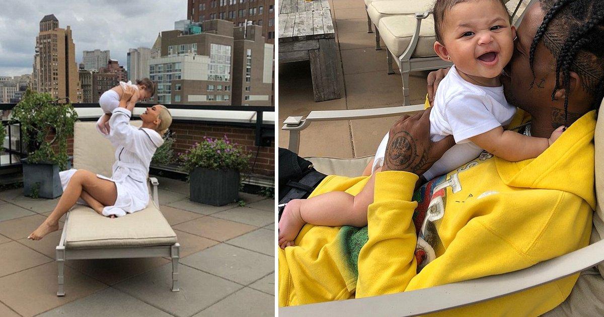 gsgsss.jpg?resize=636,358 - Travis Scott et Kylie Jenner nous font fondre dans cette vidéo avec leur fille Stormi.