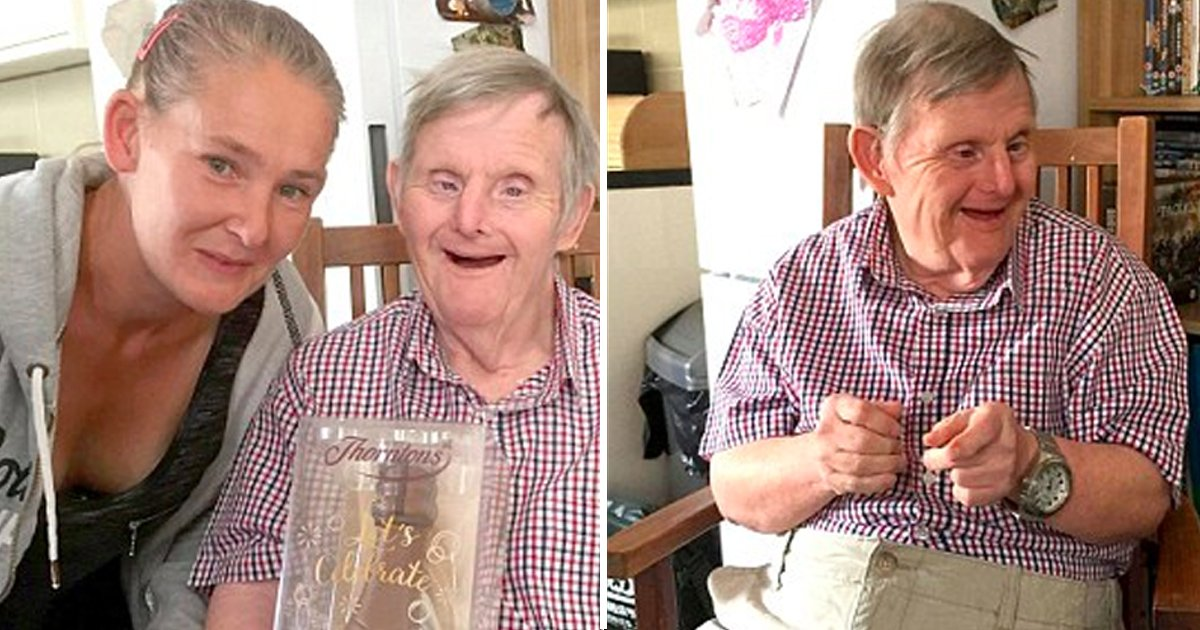 hah 2.jpg?resize=1200,630 - Man With Down's Syndrome Defied Doctors As He Celebrated His 72nd Birthday