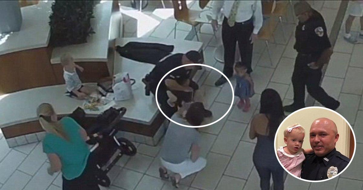 hah.jpg?resize=636,358 - Deux policiers de Floride sauvent la vie d'une petite fille s'étouffant avec un morceau de nugget.