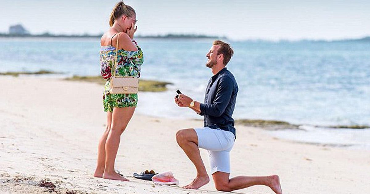 harry kane and fiancee katie.jpg?resize=412,232 - Harry Kane And Fiancée Katie Goodland Welcomed Their Second Child, Shared A Picture Of Their Newborn On Twitter