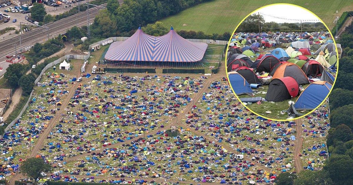 huge mess.jpg?resize=300,169 - 60000 tendas abandonadas, gazebos e colchões infláveis são deixados para trás após festival de leitura que durou três dias