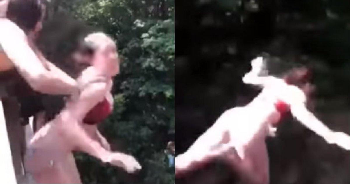 img 5b6e12d596b50.png?resize=412,232 - 친구의 장난으로 '20m' 다이빙대에서 떨어져 갈비뼈가 부러진 소녀 (영상)