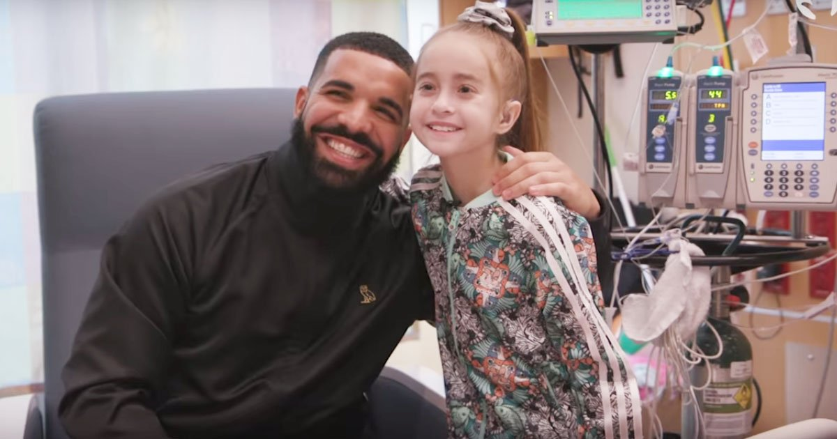 k 1.jpg?resize=412,232 - The Moment When Drake Paid A Surprise Visit To Hospital To Fulfill 11-Year-Old Girl's Wish To Meet Him