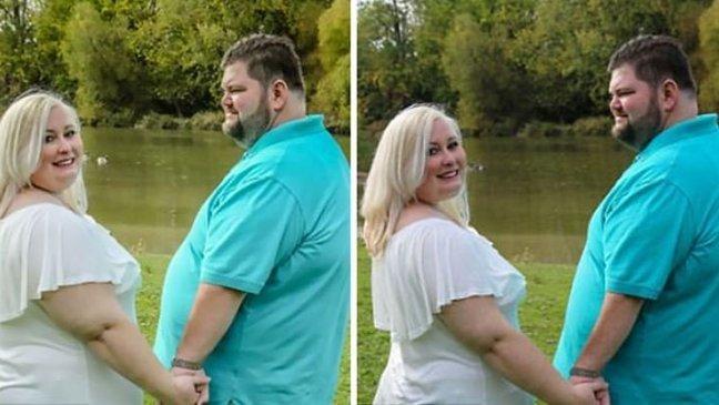 katie3.jpg?resize=648,365 - Photoshopée sans son accord, une future mariée accuse un photographe de fat-shaming.