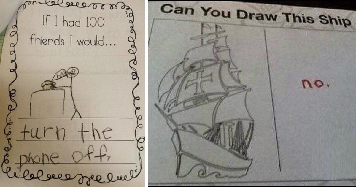 kids homework.jpg?resize=1200,630 - 21 Times Kids Did Their Homework That Had Us Laughing Hysterically
