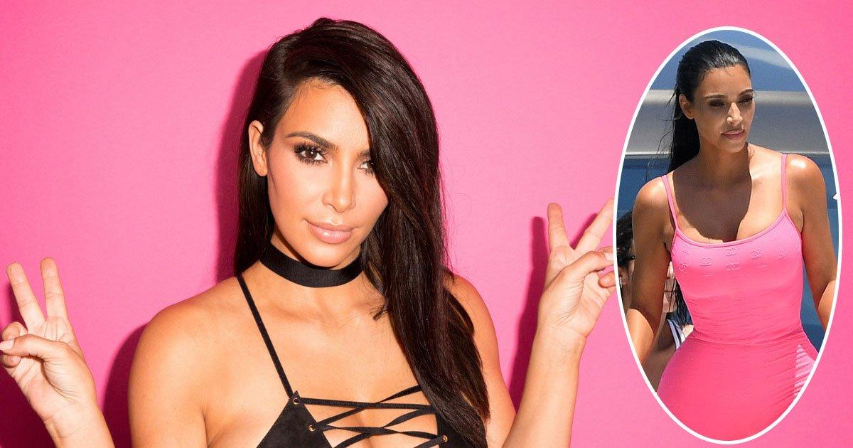 kim kardashian miami.jpg?resize=300,169 - Kim Kardashian Puts Her Slender Figure On Display During A Boat Trip With Her Children