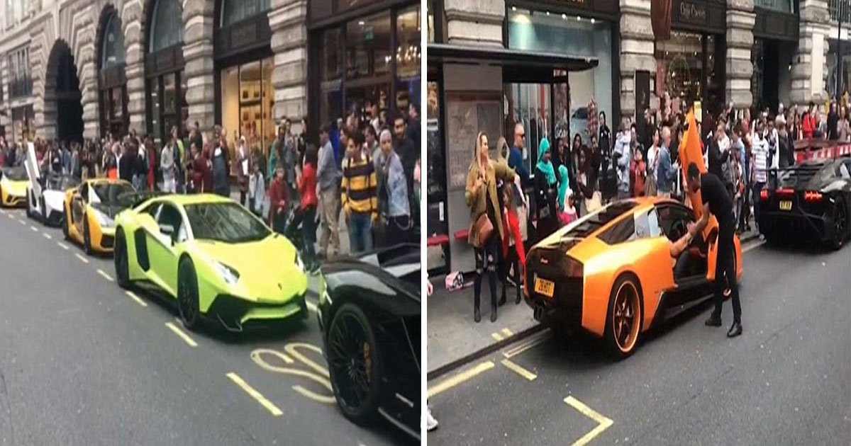 london supercar convoy.jpg?resize=636,358 - Summer Season Of Supercars Has Shocked Londoners Again-Super Rich Owners Flaunt Their Luxury Vehicles Including £230,000 Bentley