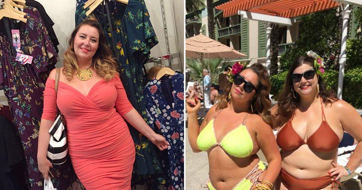 lus sized woman bikini.jpg?resize=636,358 - Une mannequin grande taille, à qui l'on avait demandé de perdre du poids, conçoit des bikinis pour les femmes comme elle.