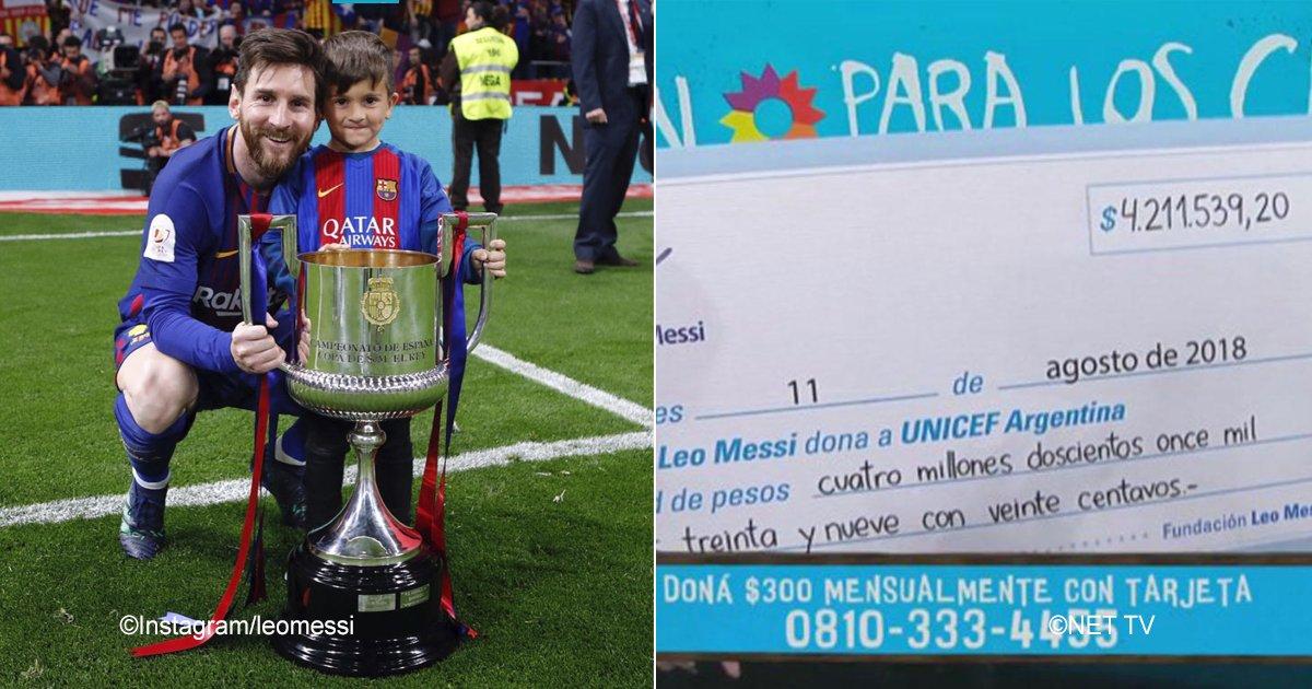 messi.jpg?resize=300,169 - Leo Messi obtiene un nuevo logro y realiza una magnífica donación a la UNICEF para ayudar a los niños de Siria