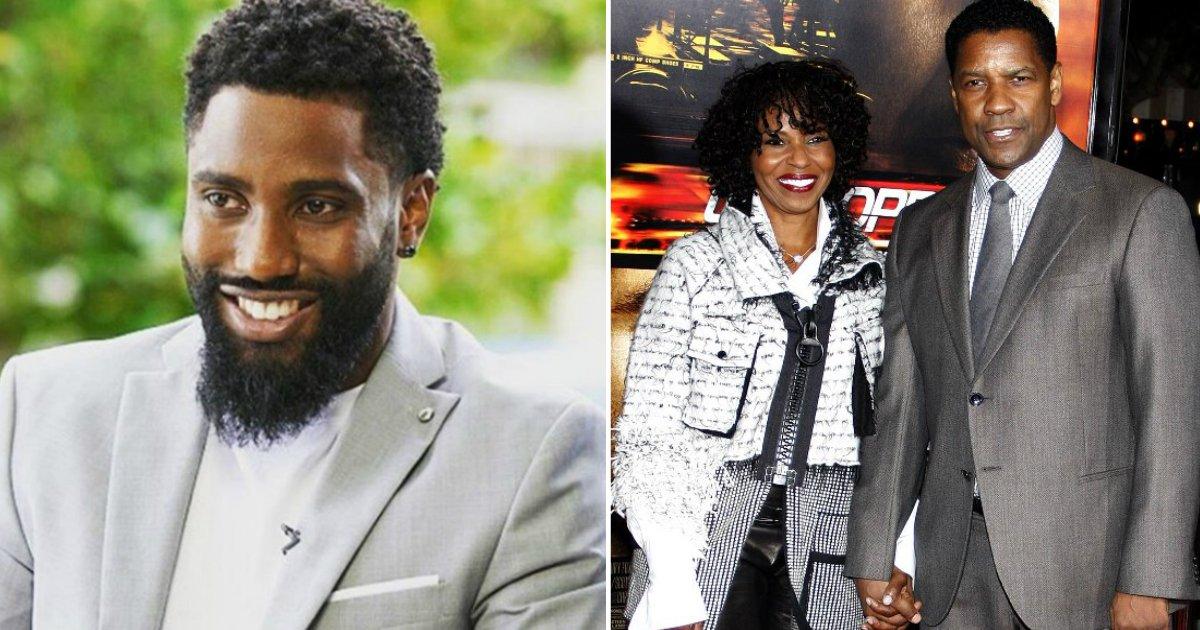mom and wife.jpg?resize=412,232 - O filho de Denzel Washington respondeu brilhantemente a um repórter que desconsiderou a sua mãe