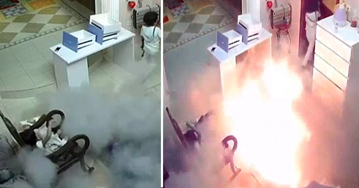 nha 1.jpg?resize=636,358 - Both The Children Were Terrified When The Hoverboard Exploded In Their Room