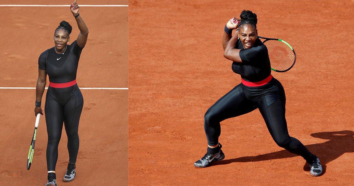 nike responds with a powerful message to french open banning serena williams catsuit.jpg?resize=1200,630 - Nike répond à la controverse entourant la tenue de Serena Williams dans sa dernière campagne publicitaire.