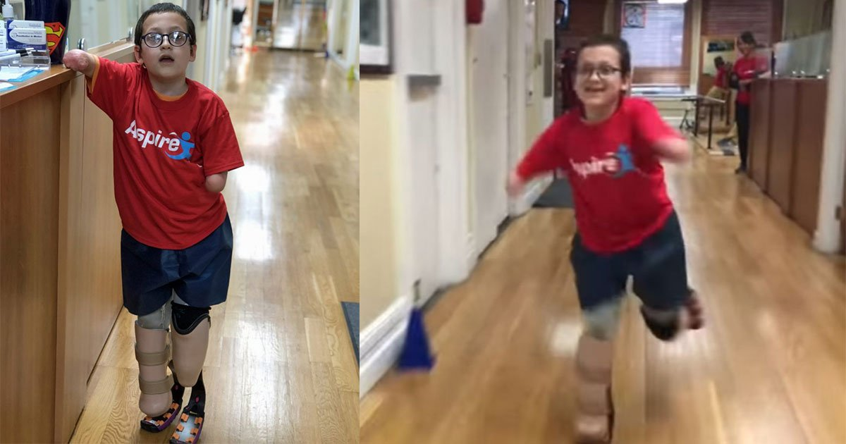 o.jpg?resize=636,358 - The Video Of A 9-Year-Old Boy Without Limbs Running For The First Time On His New Prosthetics Is Too Heartwarming To See