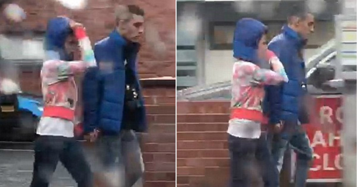 only hood.jpg?resize=636,358 - Gentleman or Selfish? Boyfriend Gives Girl The Hood Of His Jacket To Keep Her Hair Dry In The Rain, But Keeps Coat For Himself