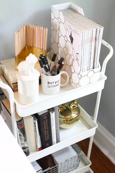 Use a Cart to Store Odds and Ends in a Small Space