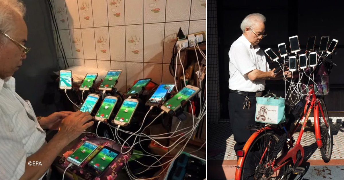 pok.jpg?resize=1200,630 - Este avô de 70 anos usa 11 celulares para pegar todos os Pokémons