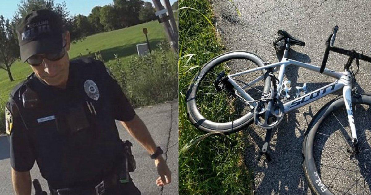 """police phone.jpg?resize=300,169 - Un officier du Missouri, distrait par son téléphone, a heurté un cycliste, avant d'expliquer : """"Je n'écrivais pas de textos, je regardais mon téléphone!"""""""