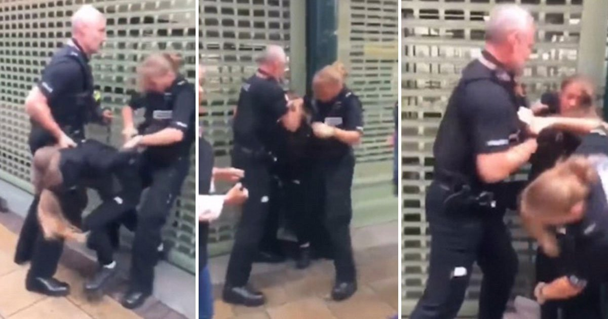 policeman slaps girl.jpg?resize=412,232 - Video Of A Policeman Slapping A 14-Year-Old Girl In The Face During An Arrest Has Divided The Internet
