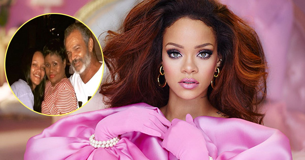 rihanna 2.jpg?resize=636,358 - Rihanna Flaunts Make-Up Free Skin As She Enjoys Family Time With Her Parents In Barbados