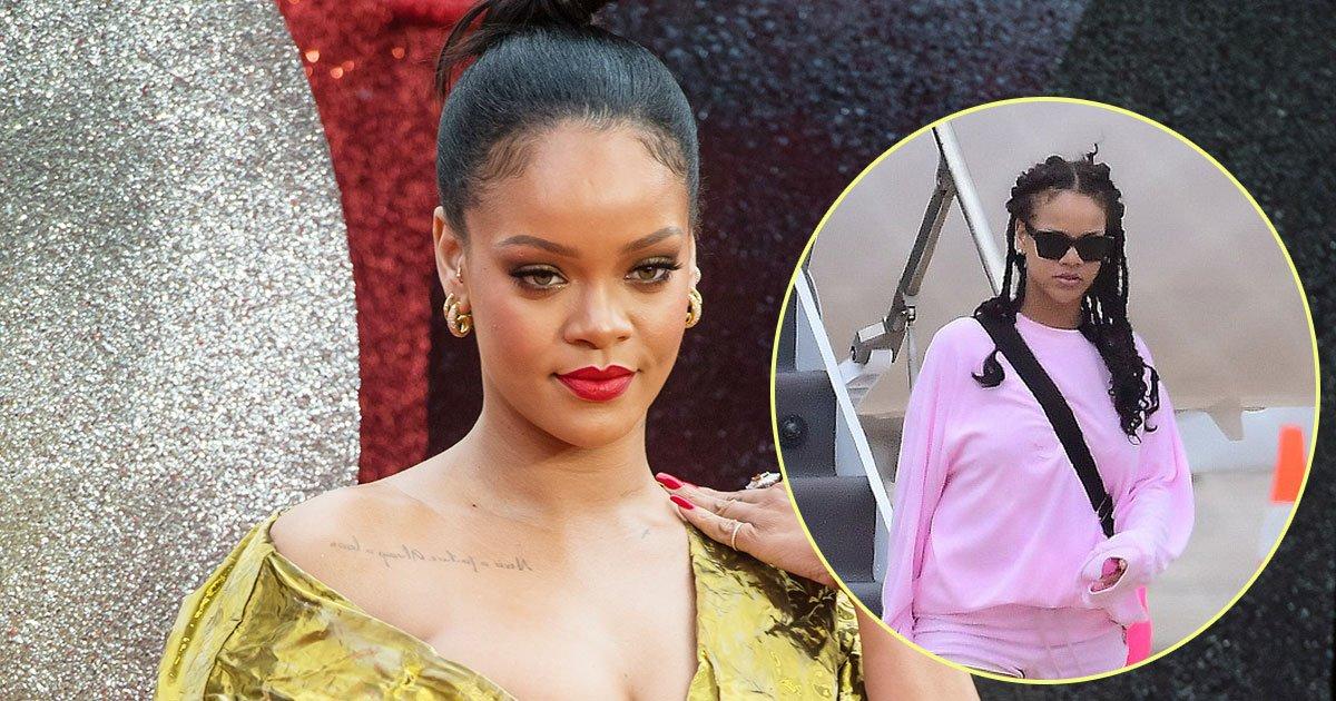 rihanna.jpg?resize=412,232 - Rihanna sort vêtue d'une tenue confortable après avoir été demoiselle d'honneur au mariage de sa meilleure amie