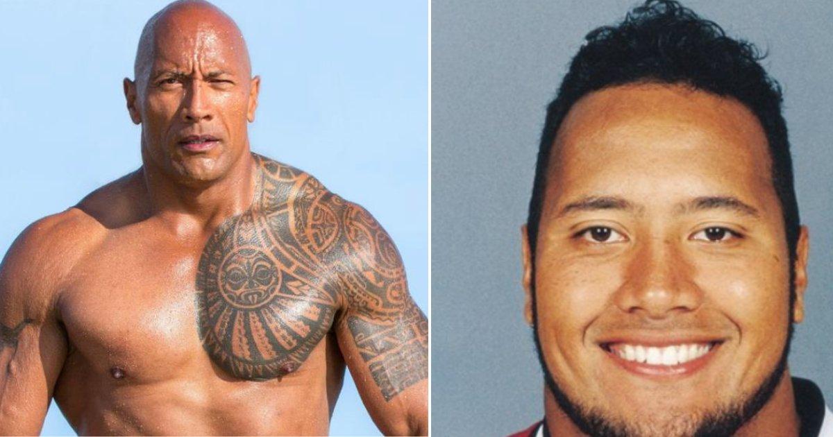"""rock fat.jpg?resize=636,358 - Dwayne """"The Rock"""" Johnson a partagé une ancienne photo de lui lorsqu'il était gros"""