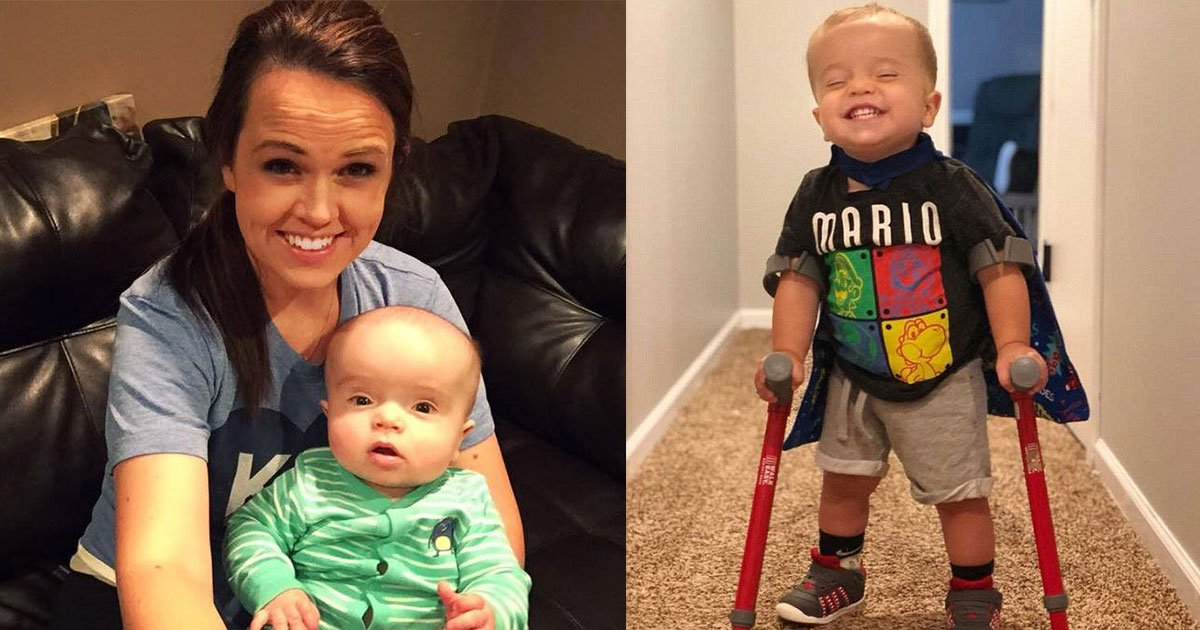 roman 2 yr old 9.jpg?resize=412,232 - Two-Year-Old With Spina Bifida Defied The Odds As He Learned How To Walk