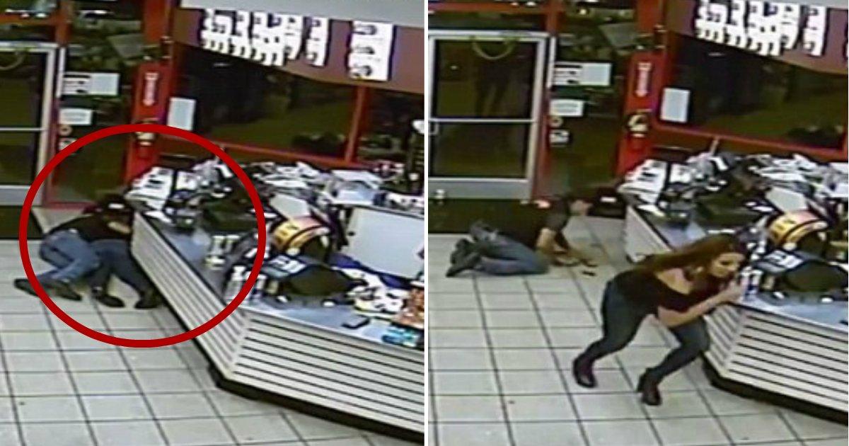 shielded.jpg?resize=636,358 - Hero Firefighter And Selfless Man Shielded Women From Gunman Who Opened Fire Near Convenience Store