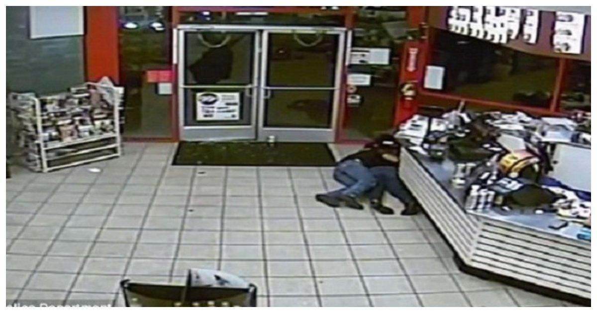 shooting.jpg?resize=412,232 - Un pompier et un inconnu servent de bouclier humain à une jeune femme lors d'une fusillade dans une station-service