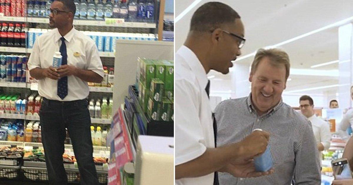 smith venture.jpg?resize=412,232 - Will Smith a surpris les clients en se faisant passer pour un vendeur lors du lancement de JUST Water