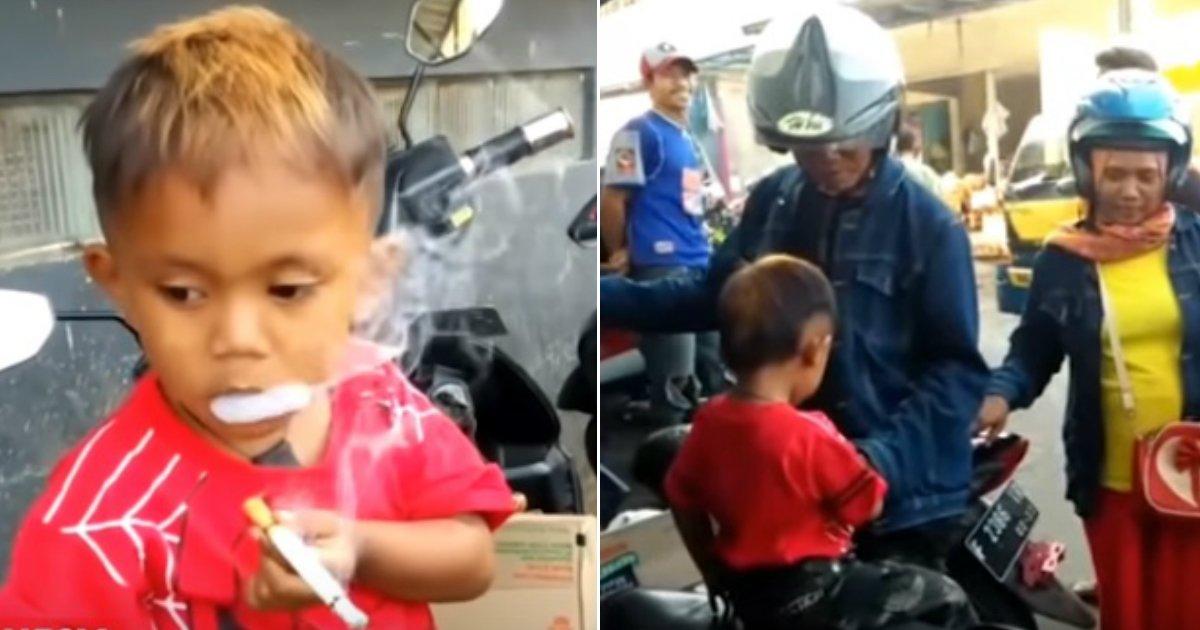 smoking.jpg?resize=1200,630 - Un enfant de 2 ans a finalement cessé de fumer 40 cigarettes par jour en échange de l'approvisionnement en lait et en biscuits