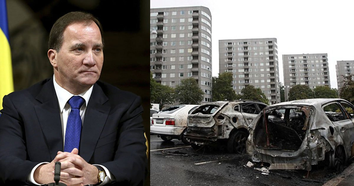 stefan lofven prime minister.jpg?resize=732,290 - Swedish Prime Minister Reacted With Anger After Masked Youth Firebombed The Cars In Sweden