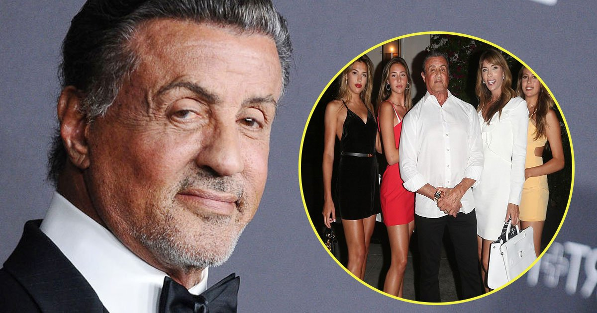 sylvester stallone daughters wife.jpg?resize=412,232 - Sylvester Stallone Enjoyed A Dinner Date With His Stunning Girls On Wife Jennifer Flavin's 50th Birthday