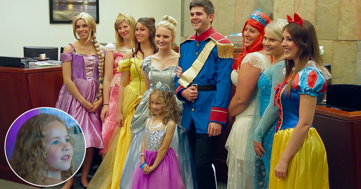 tag 3.jpg?resize=412,232 - Disney Princesses Went To A Courtroom Hearing To Surprise A 5-Year-Old Girl