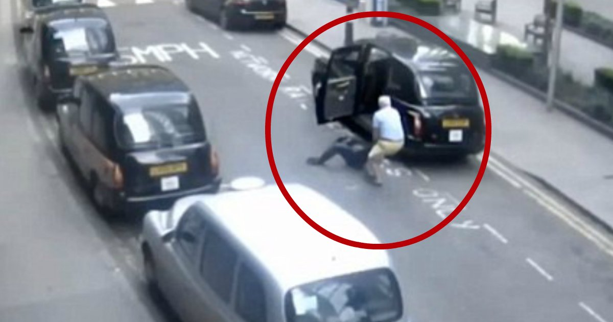 taxi driver leaves.jpg?resize=636,358 - Police Chased Taxi Driver Who Dragged Unconscious Passenger Out Of His Cab And Left Him In The Middle Of Busy Street