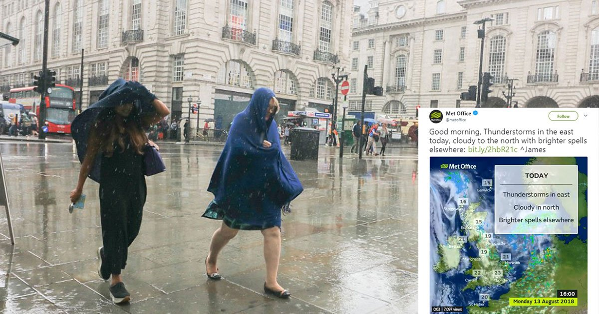 uk weather 2.jpg?resize=636,358 - UK Weather: Met Office Issues Thunderstorm Warning With 18 Flood Alerts