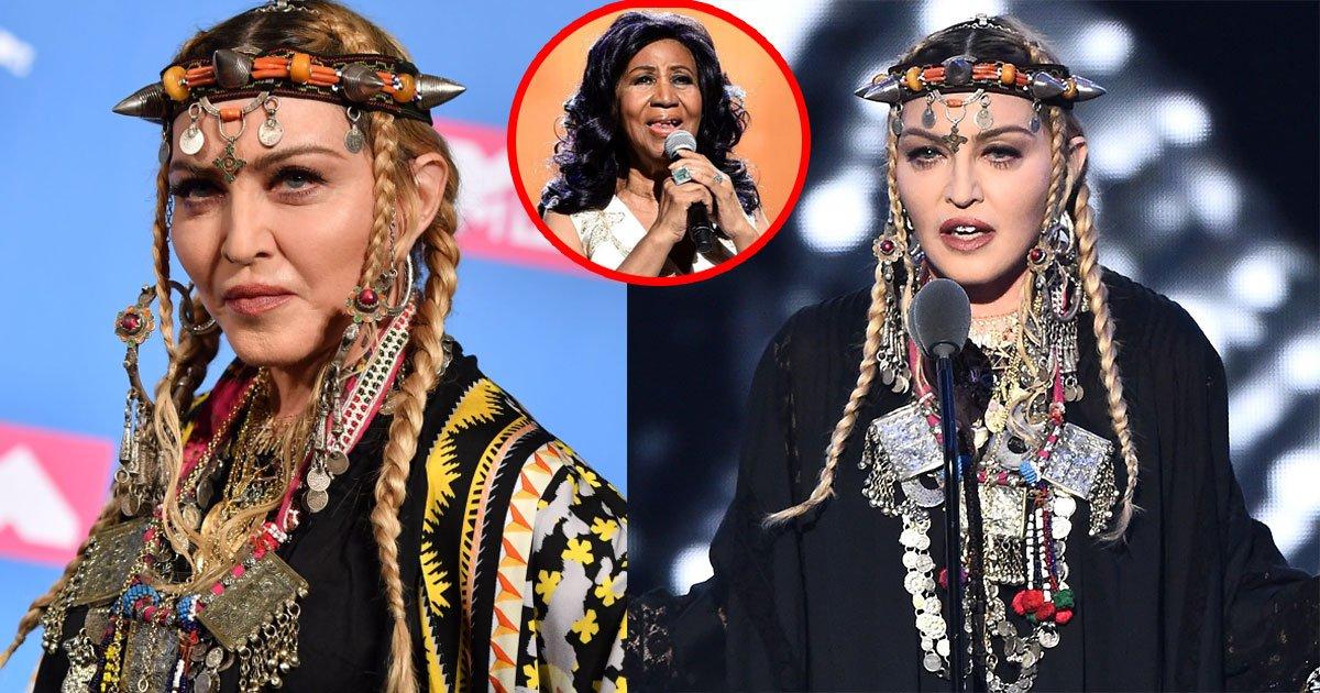 untitled 1 116.jpg?resize=1200,630 - Tributo de Madonna a Aretha Franklin no MTV Video Music Awards provocou raiva entre espectadores, já que pareceu ter sido todo sobre ela mesma