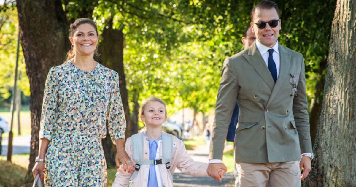 untitled 1 128.jpg?resize=1200,630 - La princesse héritière Victoria de Suède et le prince Daniel ont déposé leur fille pour son premier jour d'école