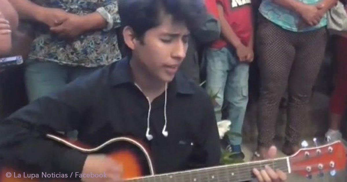 untitled 1 13.jpg?resize=648,365 - Un joven se despide de su enamorada fallecida con una emotiva canción que hace llorar a todos (video)