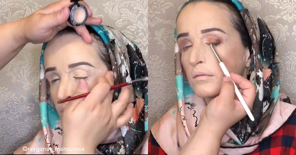 untitled 1 155.jpg?resize=300,169 - De niña  sufrió un accidente que le desfiguró el rostro, pero gracias al maquillaje el día de su boda lució irreconocible