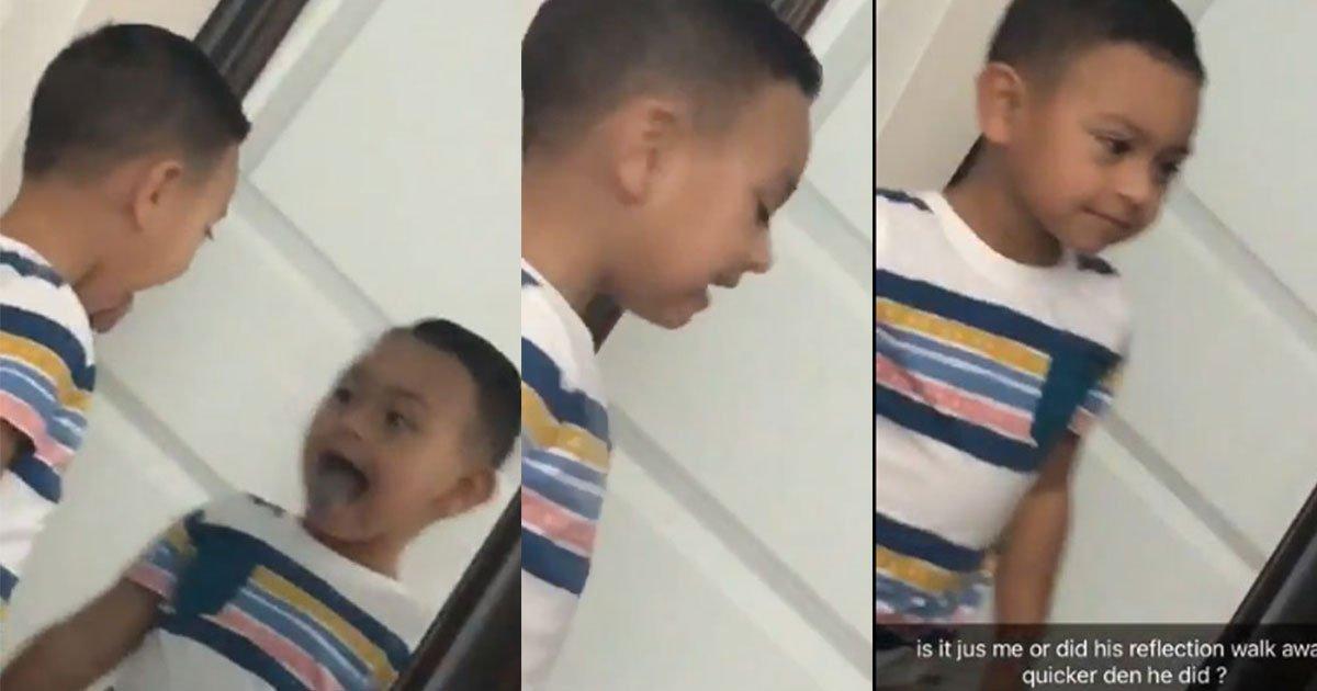 untitled 1 169.jpg?resize=1200,630 - [Vidéo] Face au miroir, le reflet du garçon semble se déplacer plus vite que lui. La mère a une hypothèse.