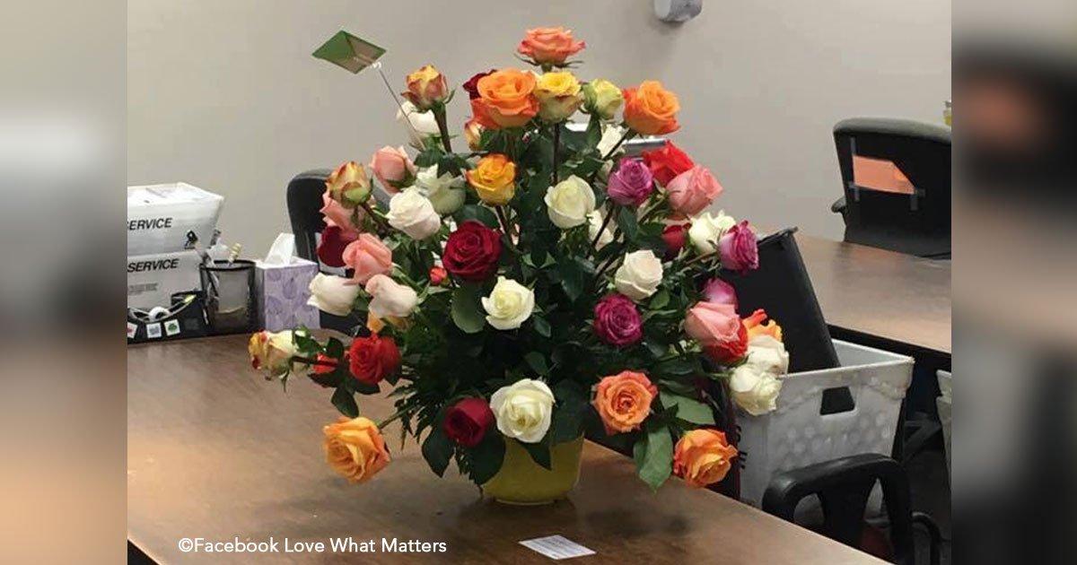 untitled 1 36.jpg?resize=648,365 - Una mujer recibe flores en su trabajo el día de San Valentín, su compañera explica el acto de amor del destinatario