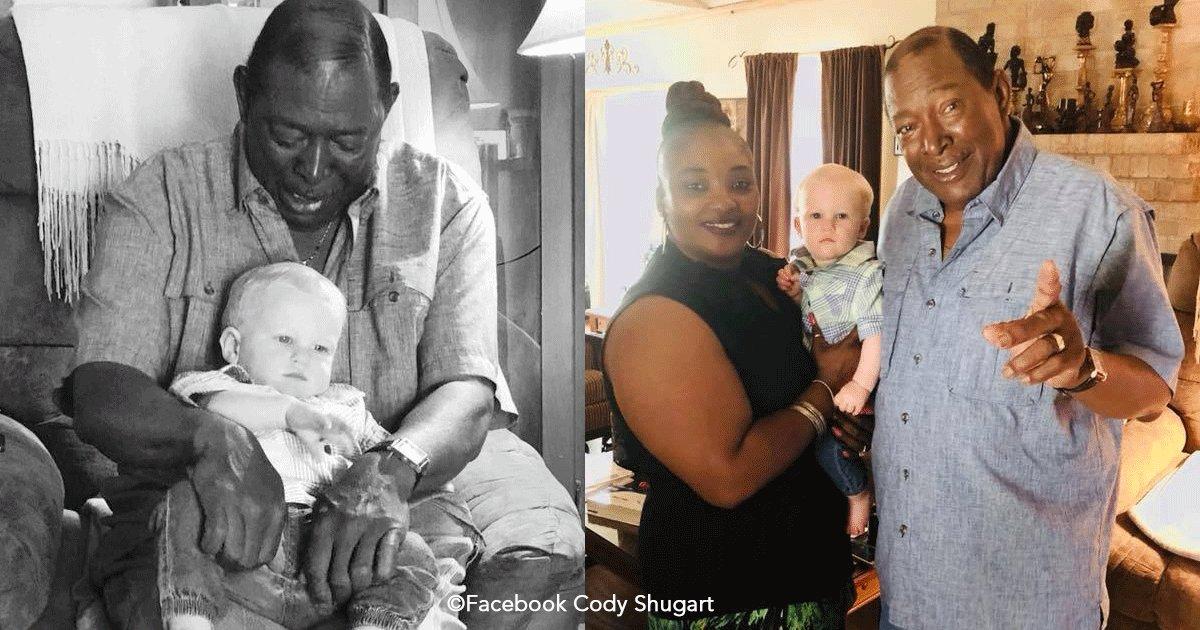 untitled 1 6.png?resize=300,169 - En las redes se ha generado polémica por una imagen de un hombre de piel oscura abrazando con amor a un bebé rubio.
