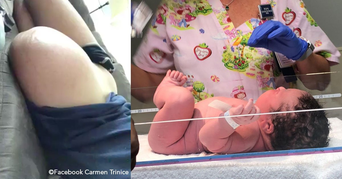 untitled 1 69.jpg?resize=300,169 - Tenía 4 meses de embarazo pero su panza crecía demasiado rápido, tuvo un bebé enorme