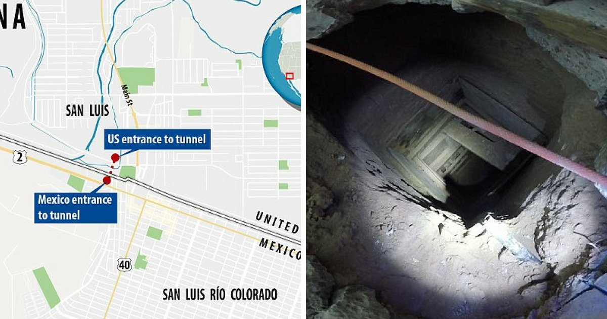 untitled design 3 1.png?resize=1200,630 - Des agents de police découvrent un tunnel secrets servant à passer de la drogue depuis un vieux KFC d'Arizona jusqu'au Mexique