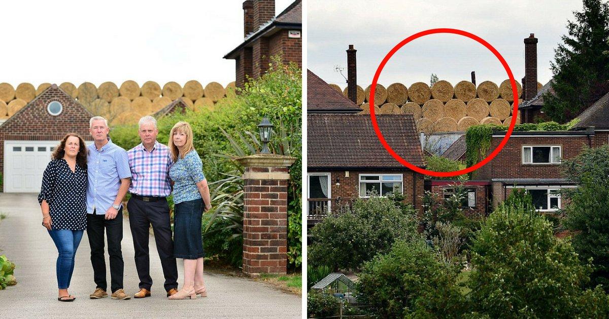 untitled design 7 1.png?resize=1200,630 - Aldeões de casas ricas ficam com raiva de fazendeiro que construiu uma montanha de palha e bloqueou sua visão