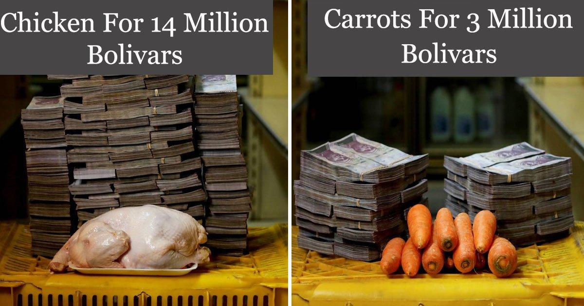 venezuelas economic crisis.jpg?resize=412,232 - Crise économique au Venezuela: quelques carottes pour 3 millions de bolivars et 14 millions de bolivars pour un poulet
