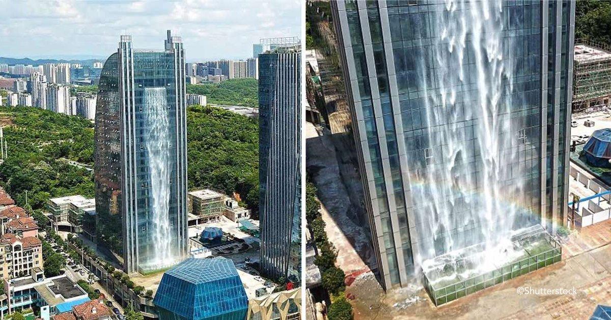 xax.jpg?resize=300,169 - Una compañía china construye una cascada artificial de 108 metros de altura en el costado de un rascacielos
