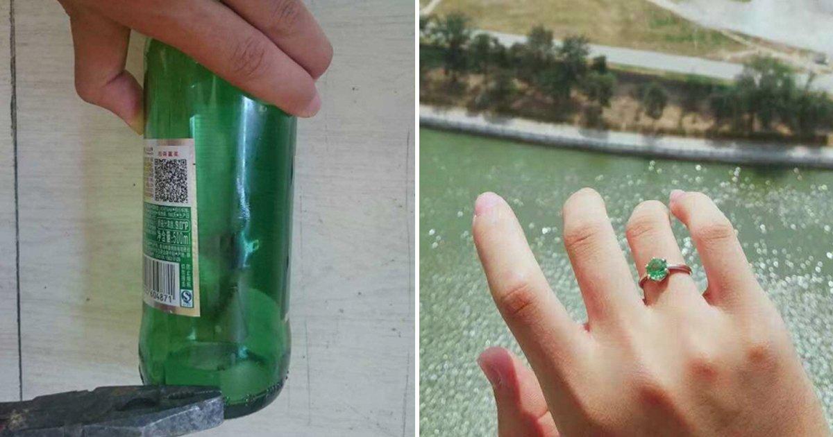2 126.jpg?resize=412,232 - 가난한 대학생이 '맥주병'으로 만든 약혼 반지