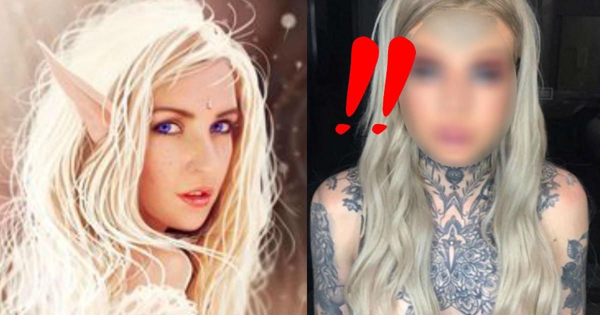 2 189.jpg?resize=412,232 - 「妖精」のようになりたいと、視力を諦めて青色の「瞳タトゥー」をした女性